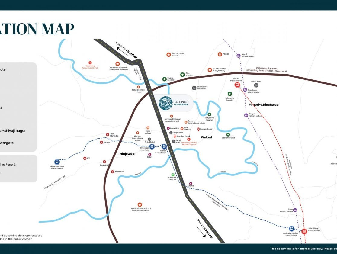 Happinest Tathawade-Location-Map mahindra happinest tathawade Mahindra Happinest Happinest Tathawade Location Map scaled