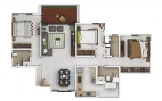 3 BHK 1000 sqft eon-homes eon homes - 3 BHK 1000 sqft - EON Homes